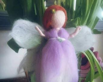 Needle felted Lavender fairy ~ Handmade Waldorf Nature Doll