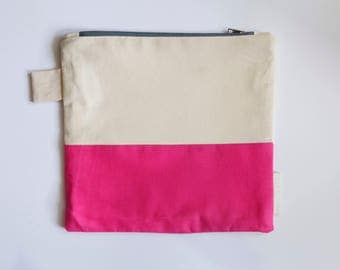 Hot Pink Zipper Pouch