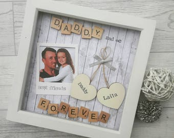 Personalised Daddy Frame, Scrabble Art Frame, Frame For Daddy, Daddy Gift, Gift For Daddy, New Dad Gift, Birthday Gift For Daddy