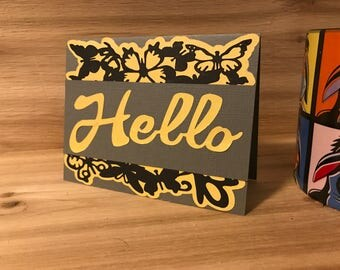Butterfly Hello card
