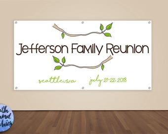Family Reunion Banner - Family Reunion Photo Backdrop - Family Reunion Sign - Vinyl Sign - Family Tree - Family Sign - Branch Reunion Banner