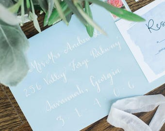 Custom Calligraphy Wedding