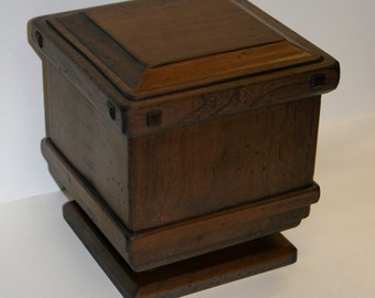 Wooden Urn - Handcrafted from Walnut Tree to Decorative Urn