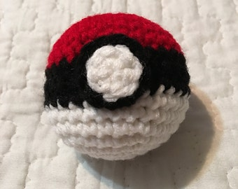 Handmade Crochet Pokeball