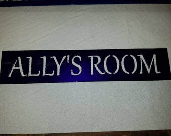 Personalized metal signs