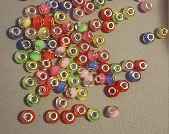 Multiple beads for European charm bracelet