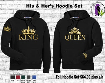 King and Queen Foil Hoodies