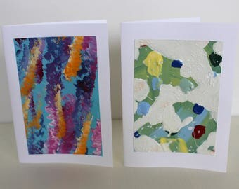 Abstract Gift Card Set of Two