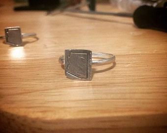 Sterling silver Arizona stamped ring