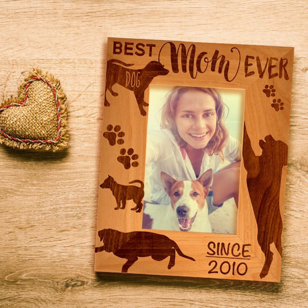 Personalized Best Dog Mom Ever Photo Frame Custom
