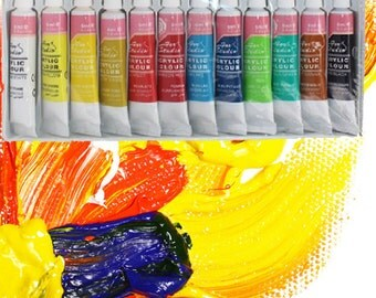 12 Colors Acrylic Paint