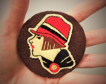 Lady Hand Embroidered Patch