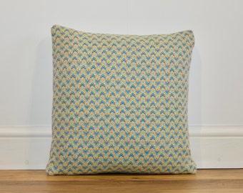 Bespoke Handwoven Multicoloured Criss-Cross Cushion