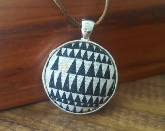 Black Triangle Fabric Necklace