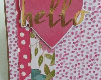 Handmade card w/ envelope