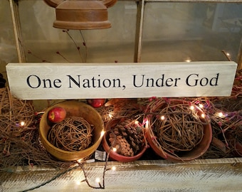 One Nation under God (blue lettering)