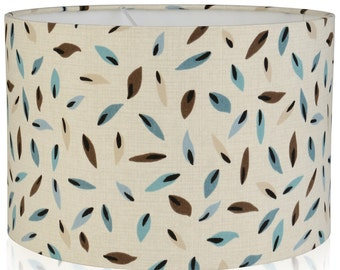 NEW Fallen Leaf Design Lampshade Duck egg & Brown, Ceiling Light /Table Lamp shade