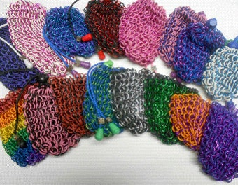 Lg. Chainmail Dice bags