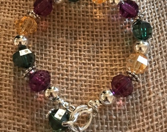 Mardi Gras Toggle Bracelet