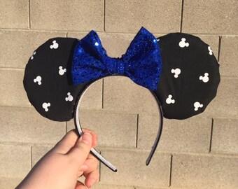 Black Mickey Head Minnie Mouse Ears