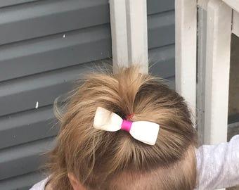 Little cute white bow