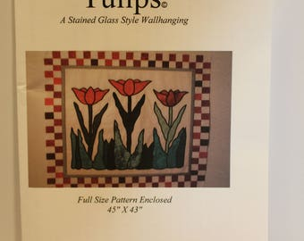 Tulips Stained Glass Style Wallhanging