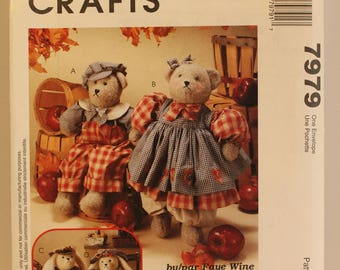 McCalls 7979 Bears and Bunny pattern