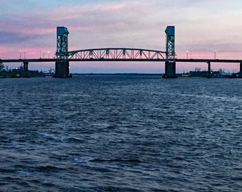 Wilmington Bridge at Sunset