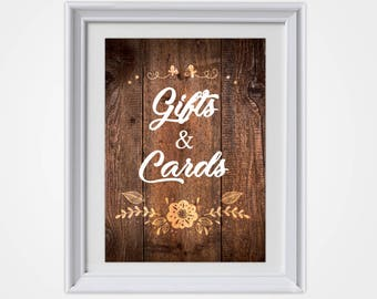 Wedding Cards and Gifts, Country Wedding, Rustic Wedding, Rustic Wedding Sign, Cards and Gifts Sign, Wedding Sign, Wedding Decor