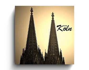 Cologne Cathedral sunset Picture on wood