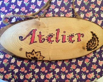 Wooden sign for craft room