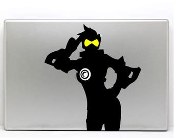Tracer Overwatch Decal Salute Stance for Macbook