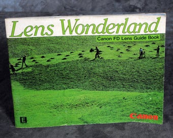 Lens Wonderland Canon FD Lens Guide Book 1982 Original Lenses Booklet