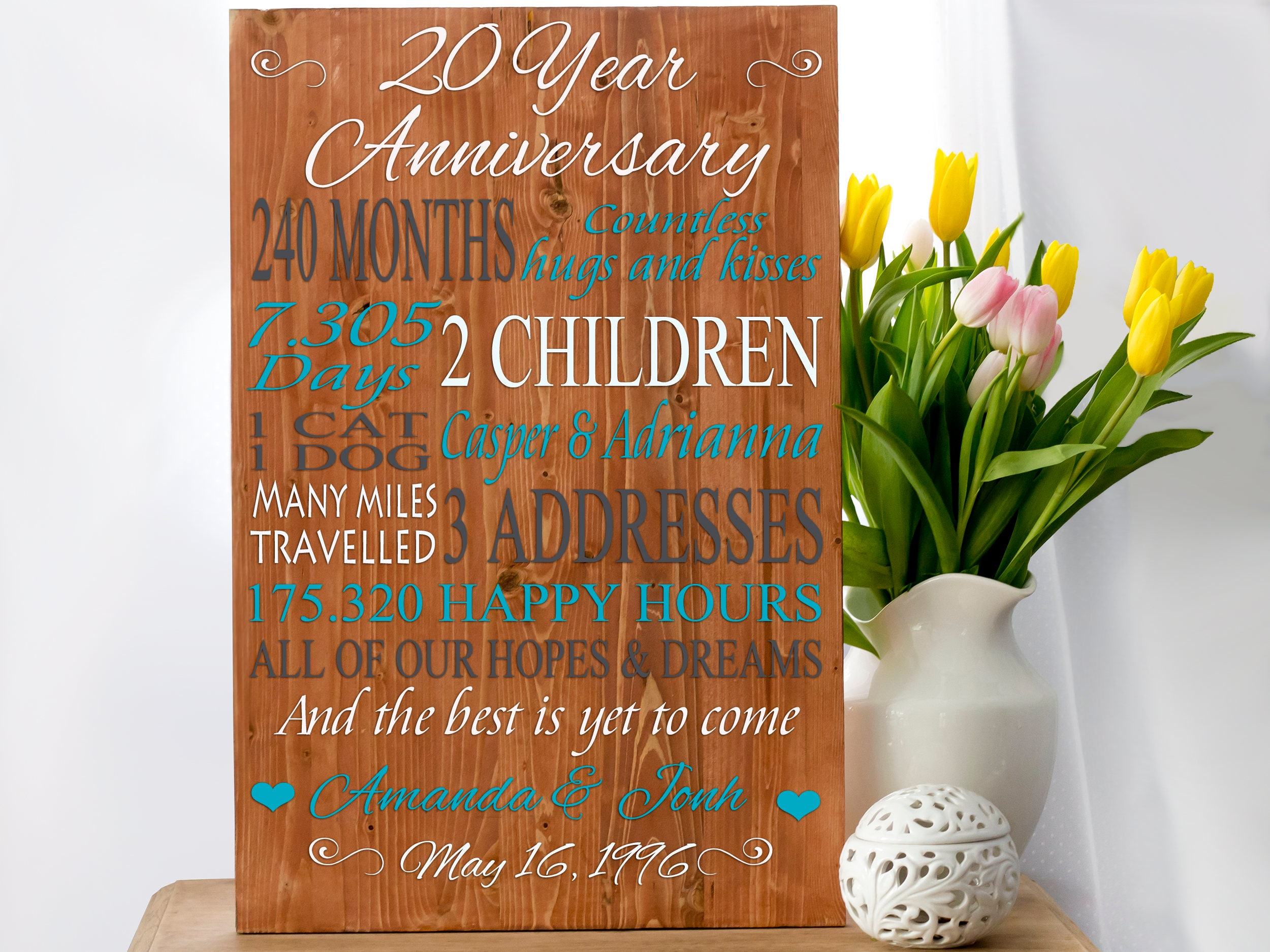 Traditional 20th Wedding Anniversary Gifts: 20th Anniversary Anniversary Gift 20 Anniversary 20 Year