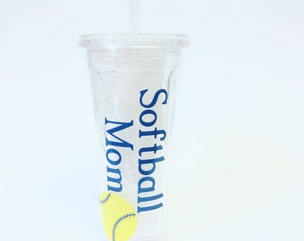 Personalized Sports Mom Tumbler