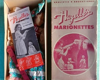 Hazelles Marionette from 1940s! - Vintage Dolls - Collectible Doll - Toy - Action Figure - Cloth Dolls - Art Dolls - Oddities