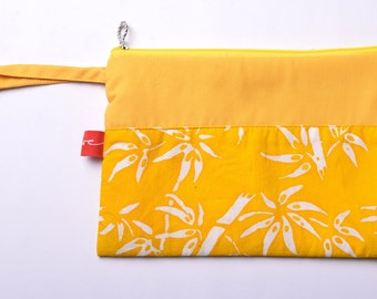 Batik Banyuwangi Yellow Pouch