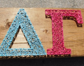 Delta Gamma String Art - 12x5.5 in