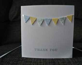 Handmade Bunting Thank You Card