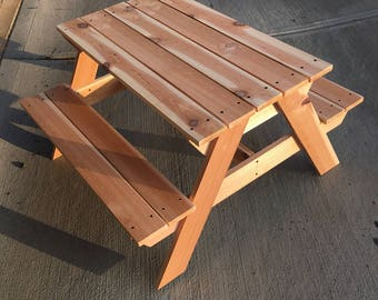 Cedar Wood Kids Picnic Table