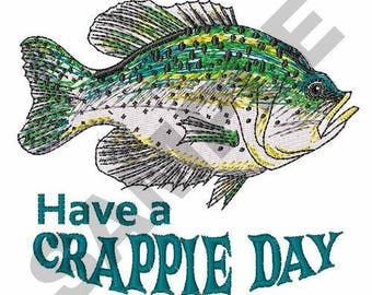 Crappie Day Fishing - Machine Embroidery Design