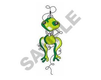 Frog Fishing Lure - Machine Embroidery Design