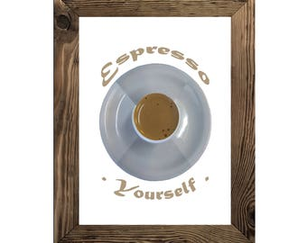 Coffee Wall Decor, Espresso Art Print, Kitchen Instant Download