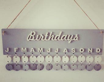 Hand painted wooden birthdays sign, chalk painted