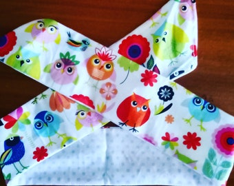 KIDS Woodland Creatures Reversible Head Scarf