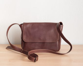 Brown Leather Crossbody Bag, Small Crossbody Bag, Small Leather Crossbody, Crossbody Bags for Women,Leather Crossbody,Bag
