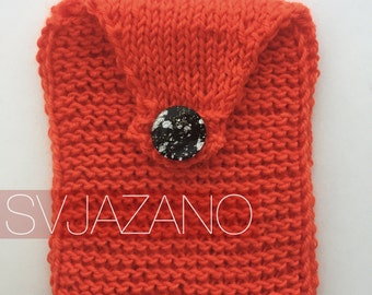 Knitted pocket for your smartphone/soft case for Smartphone