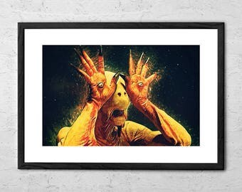 Pale Man - Pan's Labyrinth - Illustration - Movie Poster - Pan's Labyrinth Poster - Pan's Labyrinth Print - Pans Labyrinth - Horror Movie