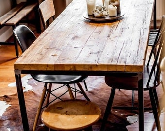 WUUD manufacture dining table no.. 1 table reclaimed wood timber industry design
