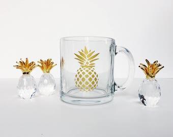 Clear Pineapple Mug // 13oz
